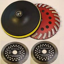 7 Spiral Turbo Concrete Stone Grinding Cup Wheel 3 Turbo Saw Blade Granite Cut