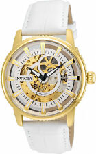 Invicta Men's Objet D'Art Skeleton Dial Watch ( Automatic ) Gold and White, 2264