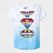 Justice League Girls DC Comics Shields Short Sleeve T-Shirt - M