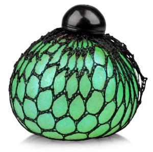 Tobar Glitter Squishy Mesh Ball Sensory Stress Relief Fidget Toy Assorted Colour