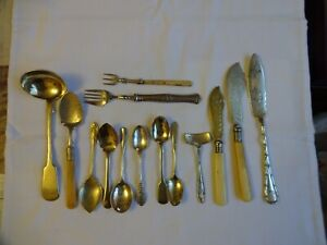 Antique & Vintage Silver Plated Collection 0f Cutlery x 14