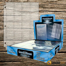 100 Pack Guardhouse Shield 20 Pocket Thumb Cut Coin Notebook Pages