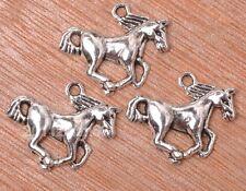 10pcs Tibetan silver  horse pendant beads Jewelry finding pendants 20MM B3158