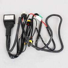 12V HID Bi-Xenon Light H4-3 Hi/Lo Controller Fuse Relay Wire Wiring Harness J01