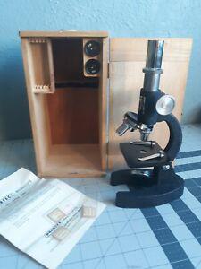 Vintage Perfect Model 804 Turret Microscope