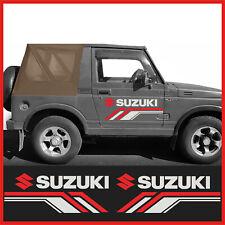 2 adesivi per suzuki santana vitara jimni samurai x fuoristrada off road 4x4
