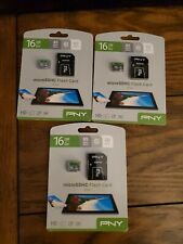 Bundle of 3 (64gb)  PNY 16gb Micro SDHC Card Class 10 with adapters