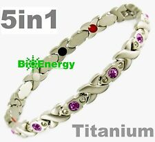 Magnetic GERMANIUM Energy Armband Power Bracelet Health Bio Magnet 5in1 lady's