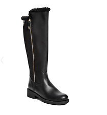 GUESS boots 7 Black knee-high with faux-fur lining