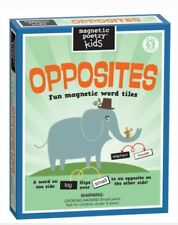 Magnetic Poetry OPPOSITES Fun Magnetic Word Tiles  Refrigerator Write Poems