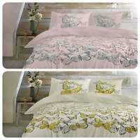 Dreams & Drapes MARIPOSA Butterfly Floral Easy Care Duvet Cover Set