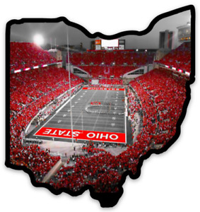 O.S.U. Ohio State University Buckeyes Horseshoe Field at night  Die-cut MAGNET