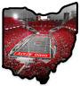 """O.S.U. Ohio State University Buckeyes """"OSU Horseshoe Field at night"""" Ohio MAGNET"""