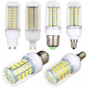 E27 E14 G9 GU10 B22 LED Corn Light Bulbs Screw Base Dimmable Bright White Lamps