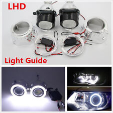 "2 Pcs 2.5"" Universal H1/H4/H7 Mini HID Bi-xenon Projector Lens White Angel Eyes"