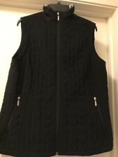 Black Quilted Zip Up Vest Size 14 To 16