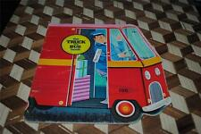 The Truck and Bus Bool Golden Shape Book Vintage 1966 Retro Original Children's
