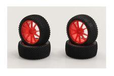 NEW Kyosho Mini Inferno Pre-Mounted Micro Block Tire / Yellow Orange Set