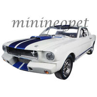 COLLECTIBLES 168 1965 SHELBY FORD MUSTANG GT 350 R 1/18 WHITE with BLUE STRIPES