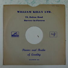 "78rpm 10"" card gramophone record sleeve / cover WILLIAM KELLY barrow , ffrr"