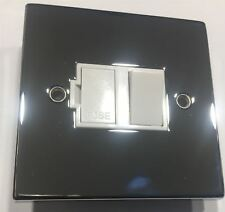 Schneider 13A Switched Spur Switch Fuse Connection Unit Polished Chrome Square E
