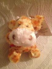 "NWT 4"" Russ Buddies Gaby I Love You Baby Giraffe Angel Plush Stuffed Beanie"
