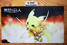 Custom Yugioh Playmat Play Mat Large Mouse Pad Pikachu & Attack of Titan  #371