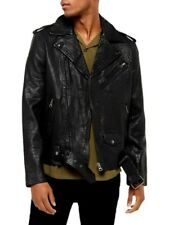 TOPMAN Premium quality Buffalo leather jacket size XL BNWT - SOLD OUT Rrp £180