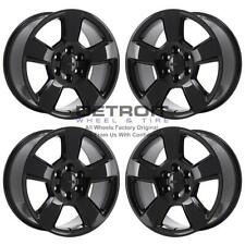"20"" Chevrolet Silverado 1500 Gloss Black Exchange Wheels Rims Factory Oem 565."
