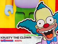 2017 Medicom Be@rbrick 400% i Simpson Krusty il Clown BEARBRICK