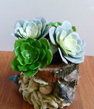 2 Colors Big # Snow Lotus Artificial Succulents Home Decoration Set of 4
