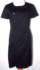 BCBG Paris Womens Dress Size 10 Black Button Down Short Sleeve LBD Career Party