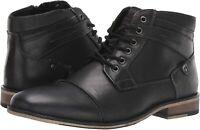 Steve Madden Men's Jotter Combat Boot, Black Leather, Size 10.0 SGLm