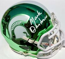 MARK DANTONIO SIGNED MICHIGAN STATE SPARTANS CHROME FOOTBALL MINI HELMET PSA/DNA