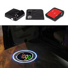 2x No Drill Wireless Logo Laser Projector Lamp Car Door Welcome LED Light Badge