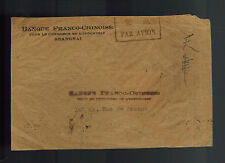 1930s Shanghai China Cover to France French Chinese Bank