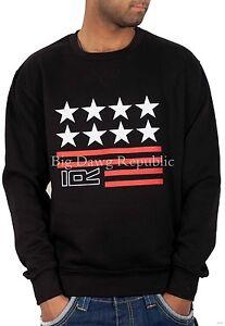 Rocawear Men's Designer Jumper, USA Stars, Sweatshirt, Pullover, Is Time Money