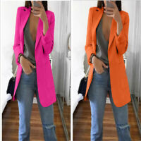 Women Formal Slim Outwear Jacket Top Coat Career Long Sleeve Blazer Casual