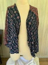 HOLLISTER Light Cardigan Red White Blue Drapey Kimono Boho XS S - Patriotic