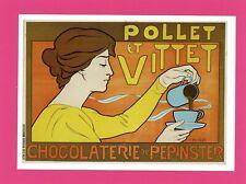 Henri Meunier - Pollet et Vittet - Chocolate Advertising Postcard