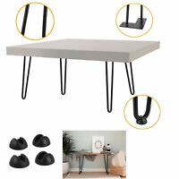 """Hairpin 2 Rods 1/2"""" Solid Table Desk Legs Set of 4 Heavy Duty - Various Sizes"""