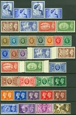 GREAT BRITAIN : Very clean, all VF MNH group of Better sgls & sets. SG Cat £470.