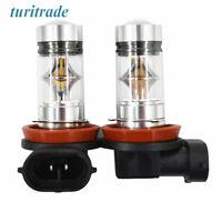 2x H8 H9 H11 Cree 100W 3000K Amber Yellow High Power LED Fog Lights Driving Bulb
