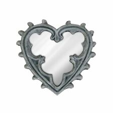 Alchemy Gothic Gothic Heart Shaped Compact Silver Hand Mirror Mediaeval Gift 8cm