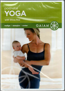 POSTNATAL YOGA with SHIVA REA on a DVD of VINYASA Flow MOM Fitness WORKOUT Video