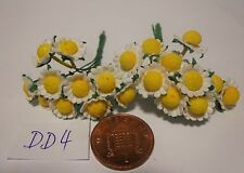 1:12 Scale 20 Daisies Paper Flowers Doll house Miniatures garden  DD4