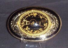 Real Gold Nuggets-Western Belt Buckle