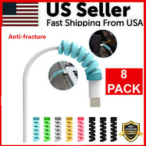 8Pcs Protective Charging Charger Cable Protector Cord Saver for Cell Phones New