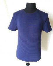 """M&S Marks and Spencer Thermal Striped T-Shirt Blue size M Chest 38"""" - 40"""""""