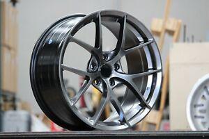 "18""x8.5J BBS Style Wheels in Hyper Black Lightweight Rims ET+40  5-112"